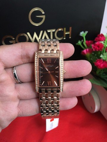 Caravelle New York Women's Analog Rose Gold Dress Watch