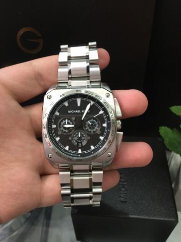 d51eb41bc15f Michael Kors Grandstand Chronograph Black Sandblasted Stainless Steel Men s  Watch MK8391