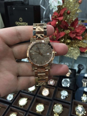 Burberry Men's & Women's 38mm Rose Gold Gold Plated Stainless Steel Watch BU9039