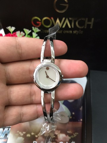 MOVADO Amorosa Duo Mother of Pearl Dial Stainless Steel Ladies Watch
