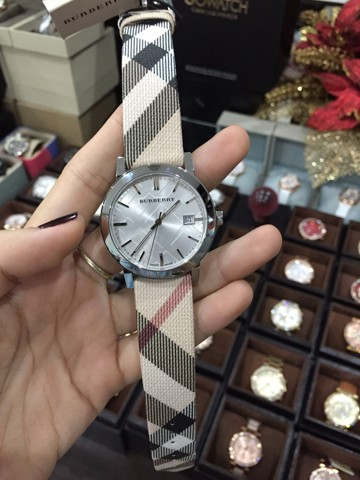 Burberry Check Fabric Ladies Watch BU9022