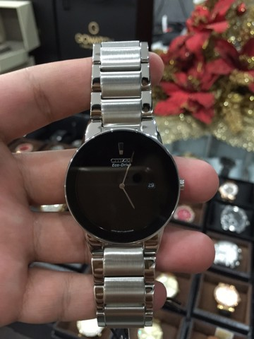 CITIZEN Axiom Eco Drive Black Dial Stainless Steel Ladies Watch