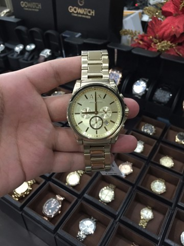 Armani Exchange Men's AX2099 Analog Display Analog Quartz Gold Watch