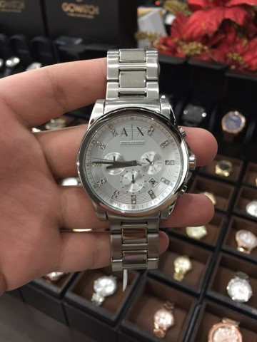 Armani Exchange Men's AX2505 Analog Display Quartz Silver Watch