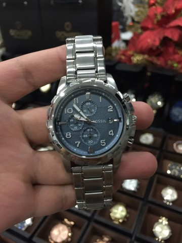 Fossil Dean Chronograph Blue Dial Stainless Steel Men's FS5023