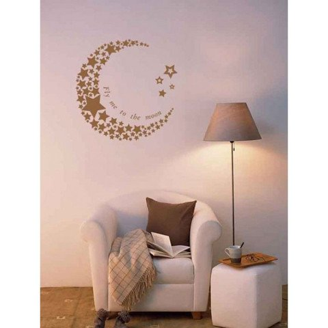 #BS006 The moon - Decal dán tường - 1