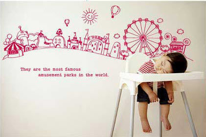 #BC017 In the world - Decal dán tường - 1