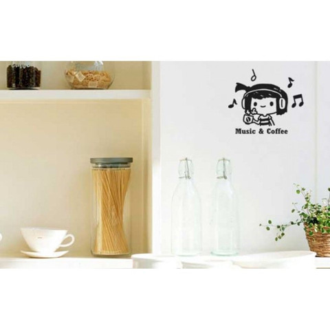#FM004 Music & Coffee - Decal dán tường - 1