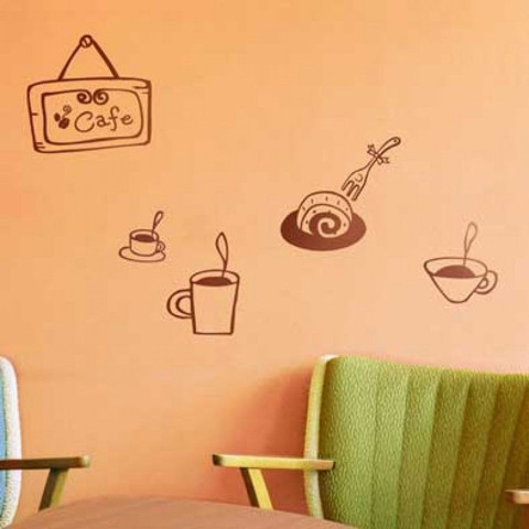 #DC005 Happy Cafe - Decal dán tường - 1