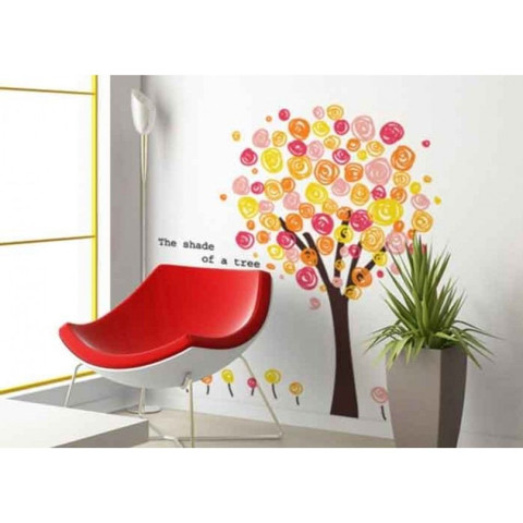 #BT017 Colour tree - Decal dán tường - 1