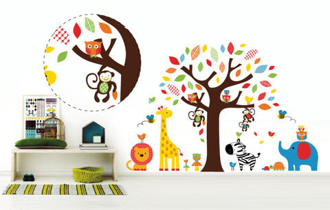 #BC007 The Zoo - Decal dán tường - 1