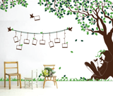 #BC030 Girl under tree photos - Decal dán tường - 2