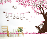 #BC030 Girl under tree photos - Decal dán tường - 3