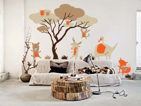 #BC031 Woodland Animal - Decal dán tường - 1