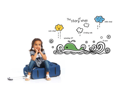 #BO002 The Story of Whale - Decal dán tường - 1