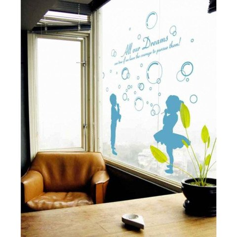 #BP011 Kids and Bubbles - Decal dán tường - 1