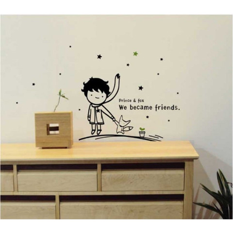#BP015 Prince and star - Decal dán tường - 1