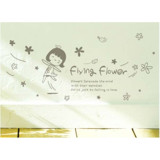 #BP016 Flying Flower - Decal dán tường - 3