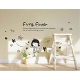 #BP016 Flying Flower - Decal dán tường - 1