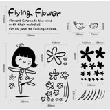 #BP016 Flying Flower - Decal dán tường - 2