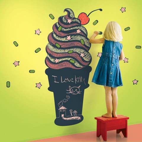 #BB011 I want to eat ice creams - Decal dán tường - 1