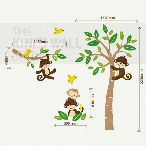 #BC013 Smile with Monkeys - Decal dán tường