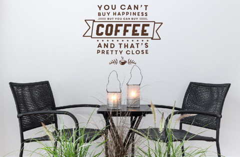 #DC023 You can buy coffee - Decal dán tường - 1