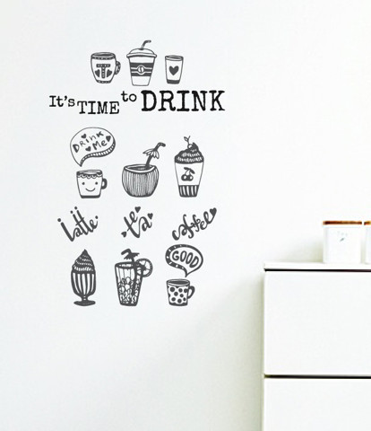 #DC033 It's Time to Drink - Decal dán tường - 1