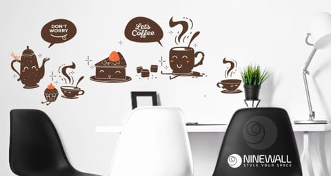 #DC037 Let coffee - Decal dán tường - 1