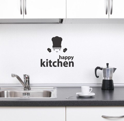 #DK018 Happy Kitchen - Decal dán tường - 1