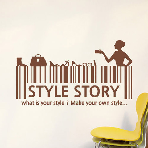 #DR008 Style story - Decal dán tường - 1
