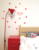 #FA007 Happy Triangle - Decal dán tường - 3