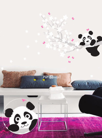 #NB027 Spring with Panda - Decal dán tường - 1
