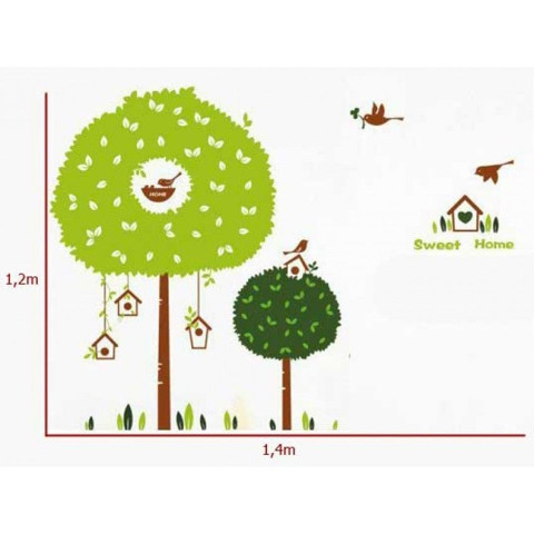 #BT016 Bird Cage Wall Decals - Decal dán tường