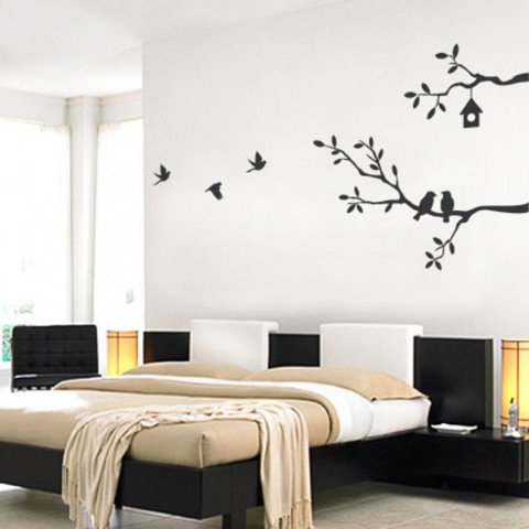 #NB005 Birds and Branches - Decal dán tường - 3