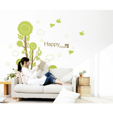 #BT012 Droplets tree - Decal dán tường - 1