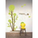 #BT012 Droplets tree - Decal dán tường - 3