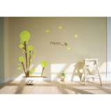 #BT012 Droplets tree - Decal dán tường - 5