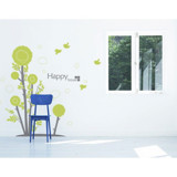 #BT012 Droplets tree - Decal dán tường - 6