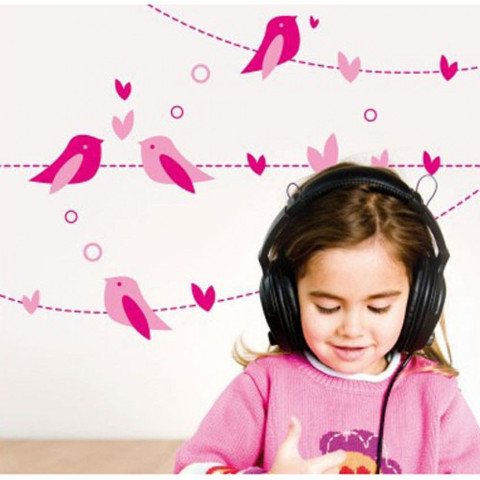 #BA008 Singing Birds - Decal dán tường - 1