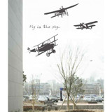 #BS023 Fokker Airplane - Decal dán tường - 1