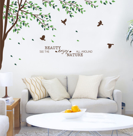 #NB013 See the beauty enjoy nature all around - Decal dán tường - 1