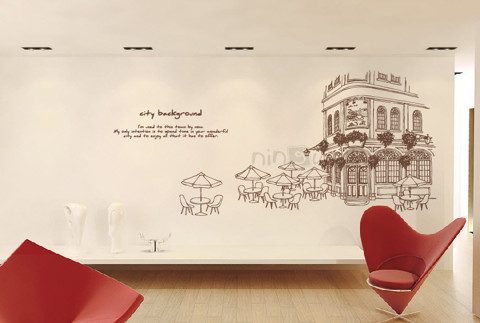 #FH001 City Background - Decal dán tường - 1