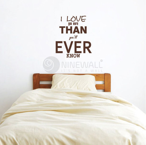 #TW02 I Love You More Than You'll Ever Know - Decal dán tường - 1