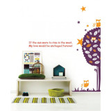 #BT013 Night Owl Tree - Decal dán tường - 3