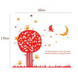 #BT013 Night Owl Tree - Decal dán tường - 2