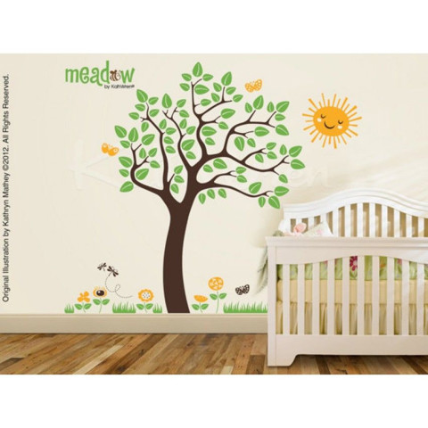 #BT014 Meadow Tree - Decal dán tường - 1
