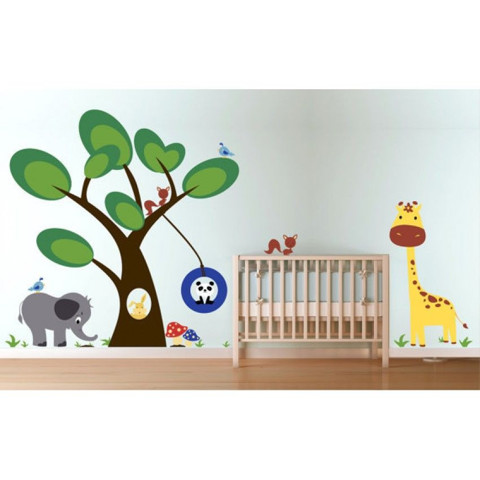 #BC014 Woodland Animals - Decal dán tường - 1
