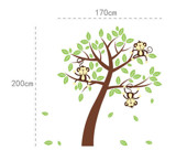 #BC003 Monkey and Tree - Decal dán tường - 2