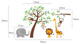 #BC005 Cute Zoo Animals Jungle - Decal dán tường - 2